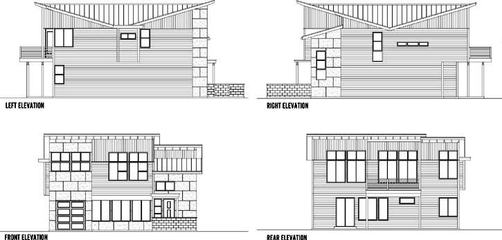Rear Elevation Plan: 36-122