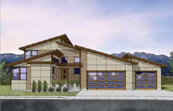 Contemporary Style Home Design Plan: 36-123