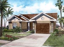Mediterranean Style House Plans Plan: 37-107