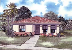 Sunbelt Style Floor Plans Plan: 37-112