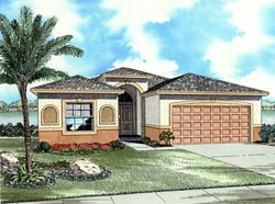 Florida Style House Plans Plan: 37-113