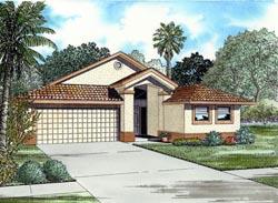 Florida Style Home Design Plan: 37-114