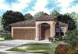 Mediterranean Style Home Design Plan: 37-116