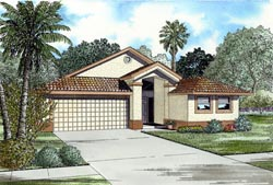 Florida Style Floor Plans Plan: 37-119