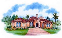 Mediterranean Style House Plans Plan: 37-122