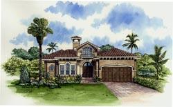 Mediterranean Style House Plans Plan: 37-123