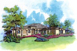 Mediterranean Style House Plans Plan: 37-127