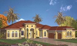 Mediterranean Style Floor Plans Plan: 37-128