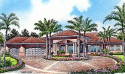 Mediterranean Style House Plans Plan: 37-130