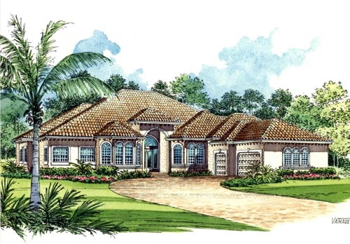 Mediterranean Style House Plans Plan: 37-131