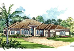 Mediterranean Style Floor Plans Plan: 37-131