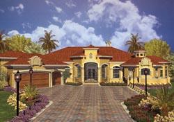Italian Style Home Design Plan: 37-133