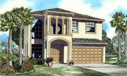 Florida Style Home Design Plan: 37-135