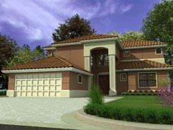 Mediterranean Style House Plans Plan: 37-139