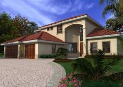 Mediterranean Style Home Design Plan: 37-143