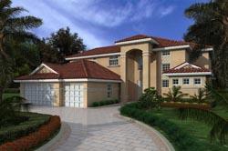 Mediterranean Style House Plans Plan: 37-147