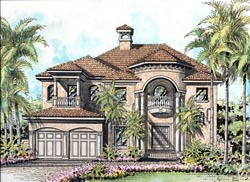 Mediterranean Style House Plans Plan: 37-149