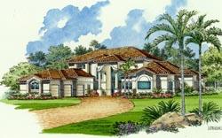 Mediterranean Style Floor Plans Plan: 37-165