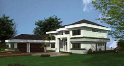 Contemporary Style Floor Plans Plan: 37-173