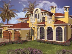 Italian Style House Plans Plan: 37-181