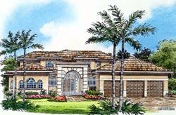 Mediterranean Style Home Design Plan: 37-183