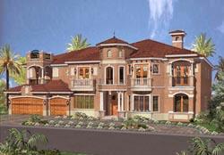 Mediterranean Style Home Design Plan: 37-189