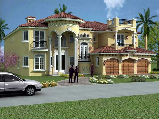 Italian Style House Plans Plan: 37-190