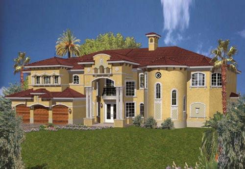 Italian Style Floor Plans Plan: 37-195