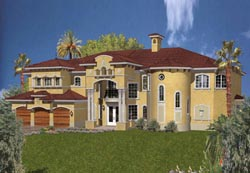 Italian Style House Plans Plan: 37-195