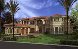 Mediterranean Style House Plans Plan: 37-196