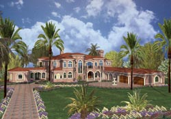 Mediterranean Style House Plans Plan: 37-199