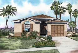 Florida Style Floor Plans Plan: 37-201