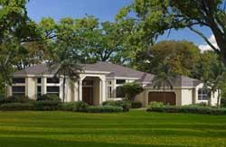 Sunbelt Style Home Design Plan: 37-206