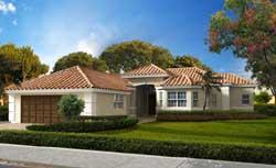Mediterranean Style Home Design Plan: 37-208