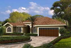 Sunbelt Style House Plans Plan: 37-209