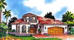 Mediterranean Style House Plans Plan: 37-214