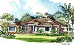 Mediterranean Style Floor Plans Plan: 37-216
