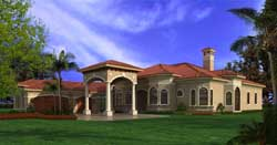 Mediterranean Style House Plans Plan: 37-219