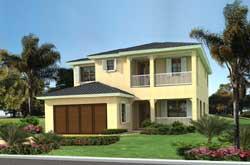 Florida Style Home Design Plan: 37-228