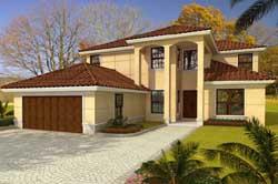 Florida Style Home Design Plan: 37-231