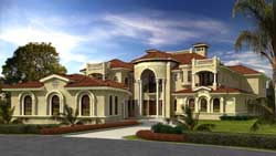 Mediterranean Style House Plans Plan: 37-233
