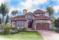 Mediterranean Style House Plans Plan: 37-234