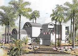 Modern Style Home Design Plan: 37-240