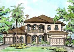Mediterranean Style Home Design Plan: 37-247