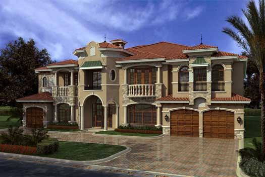 Italian Style House Plans Plan: 37-249