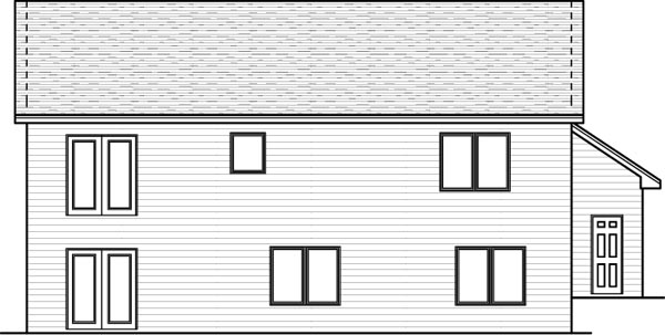 Rear Elevation Plan: 38-102