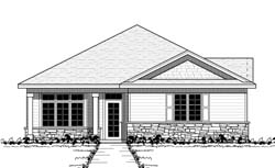Traditional Style Home Design Plan: 38-116
