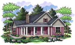 Country Style Home Design Plan: 38-126