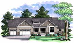Craftsman Style Floor Plans Plan: 38-131