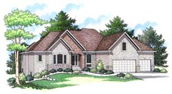 Traditional Style Home Design Plan: 38-143